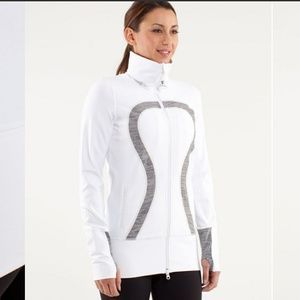 "LULULEMON ""IN STRIDE"" WHITE JACKET"